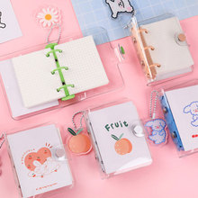 2020 Mini PVC 3 Hole Loose-leaf Binder  Transparent Notebook  Schedule Book Planner With Double Pocket