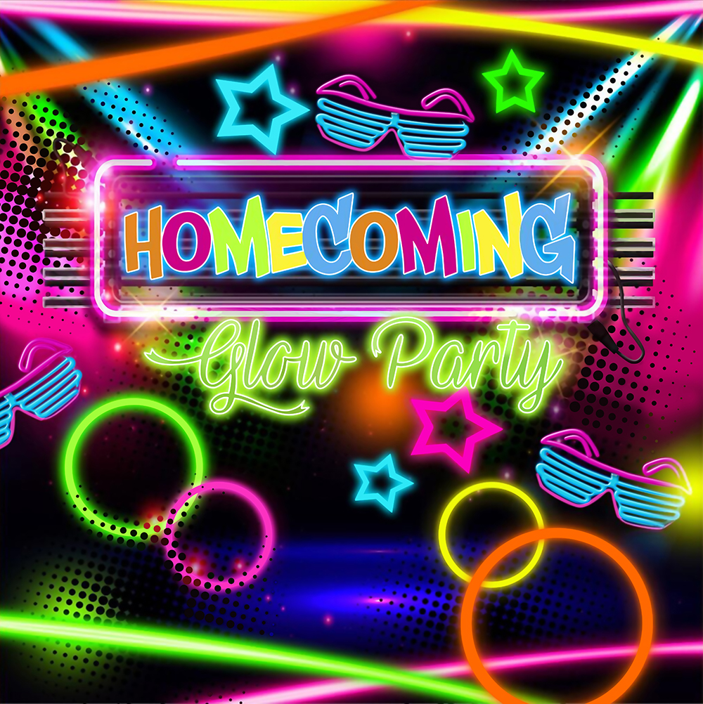 Colorful Bokeh Prom School Dance Party Banner