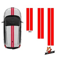 Bonnet & Rear Racing Stripes Graphics Stickers Decals Car Styling Accessories Roof Stickers FOR Citroen C2 OTT004 Roof