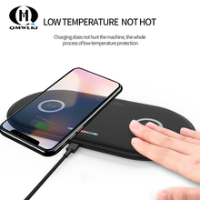 10W Fast Wireless Desktop Charging Station For Samsung S10 S9 S8 5W Dual Qi Charger Pad for Apple iPhone XS XR 8 Plus