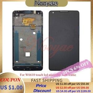 Image 1 - Getestet Schwarz Digitizer Für Philips W6610 W6618 Touchscreen Sensor mit LCD display volle Vollständig Montage rahmen