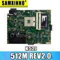 K52JR 512M  REV2.0  Laptop Motherboard  For ASUS A52J X52J K52J K52JR K52JE K52JC K52JU K52JB Mainboard test 100% OK