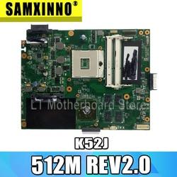 K52JR 512M REV2.0 laptopa płyta główna do asusa A52J X52J K52J K52JR K52JE K52JC K52JU K52JB płyty głównej płyta główna test 100% OK w Płyty główne od Komputer i biuro na