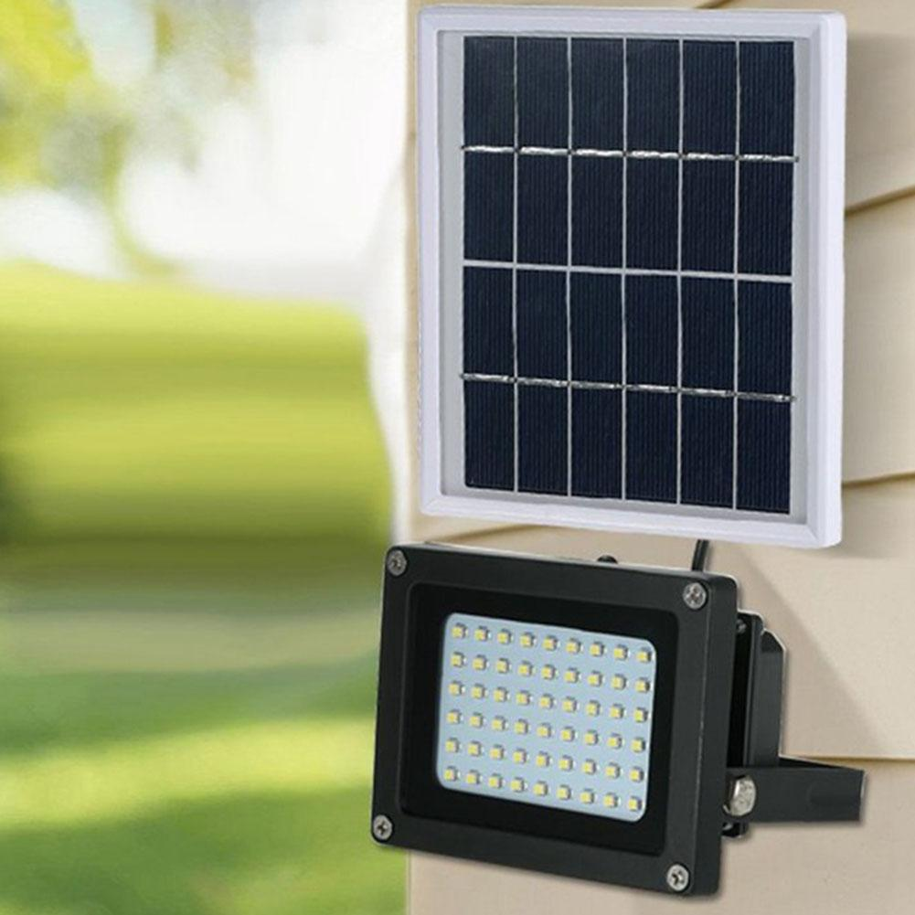 Outdoor IP65 Waterproof 10W 54LED Solar Floodlight Garden Yard Projector Lamp