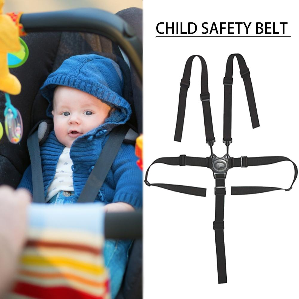 Five-point Child Safety Belt Baby Stroller Dining Chair Protection Belt Tricycle Strap Cart Seat Belt Safe And Durable In Stock