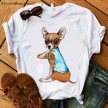 Chihuahua I Love Mom T-Shirt 2020 Women Fashion Casual Love Mama Hipster Tops