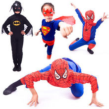 2020 Cosplay Halloween Leistung Bekleidung kinder Kleidung Spider Man BatMan SuperMan Halloween Kostüm für Kinder Party Kleid(China)