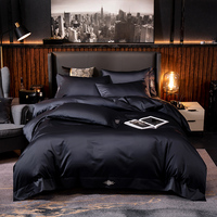 High End Premium Egyptian Cotton Soft Duvet cover set Deep Blue, Grey White Queen King Bedding Set Comforter Cover Bed sheet set