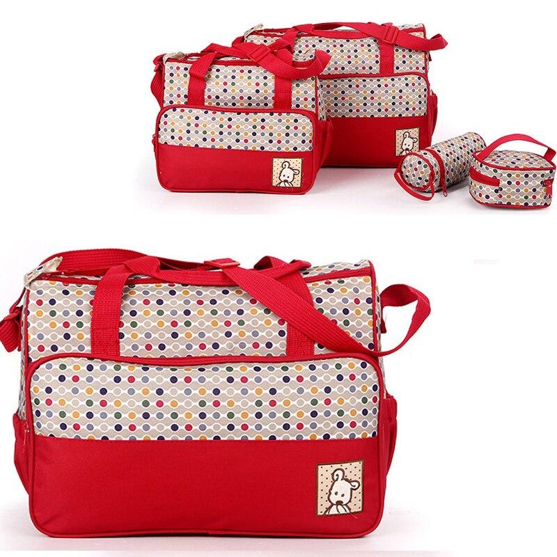 4pcs set Diaper bag Large Capacity Nappy Handbag Multifunction baby bag Mommy Maternity Travel Bag with Stroller Straps