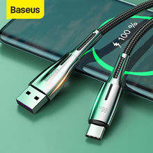 Baseus 66W 6A USB Type C Cable for Huawei Mate 40 Pro Plus Supercharge 40W Fast Charging Cord USB C Charger Cable for Huawei P40