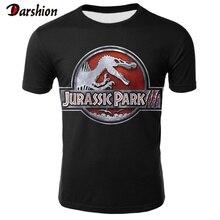 New Fashion Punk T Shirt Jurassic Park High Quality TShirt M