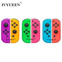 IVYUEEN Nintendo anahtarı NS için JoyCon Joy Con denetleyici yedek konut kabuk durumda NintendoSwitch yeşil mor kapak