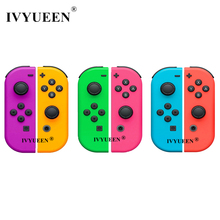 IVYUEEN für Nintendo Schalter NS JoyCon Freude Con Controller Ersatz Gehäuse Shell Fall für NintendoSwitch Grün Lila Abdeckung