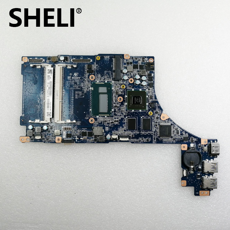 SHELI For Sony SVF15N Laptop Motherboard W/ I7-4500U 1.8Ghz CPU Onboard A1973181A Tested OK