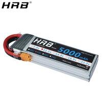 Promo Batería HRB Lipo 3S 11,1 V 5000mah 50C XT60 T Deans EC5 XT90 XT90-S piezas de enchufe de control remoto para HSP avión estilo FPV coche de carreras 1/10 barco
