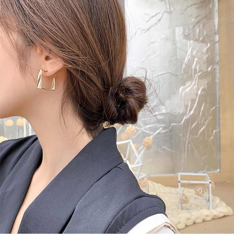 Bông Tai Vàng Nữ Vuông Đơn Giản Lớn Earings Trang Sức Cao Cấp Cao Cấp Pháp Vintage Hạt Bông Tai Nữ Trang Sức