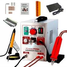 SUNKKO máquina de soldadura en punto de pulso 709A, soldador por puntos, 1.9KW, para paquete de baterías de litio, máquina de soldadura con bolígrafo de soldadura remoto