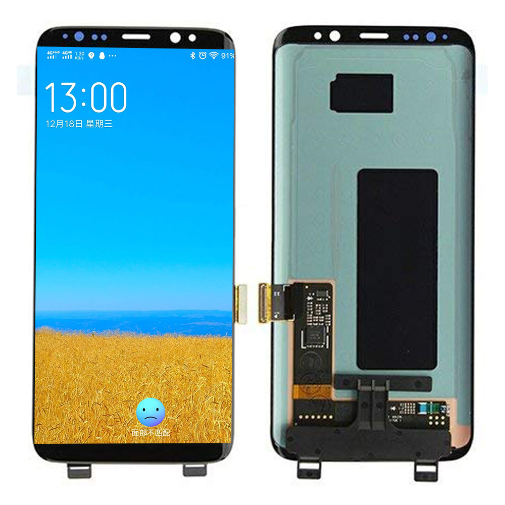 Super Amoled <font><b>S8</b></font> LCD For <font><b>Samsung</b></font> <font><b>Galaxy</b></font> <font><b>S8</b></font> LCD With Frame 2960*1440 SM-G950F LCD Display Touch Screen With Dead Pixels image