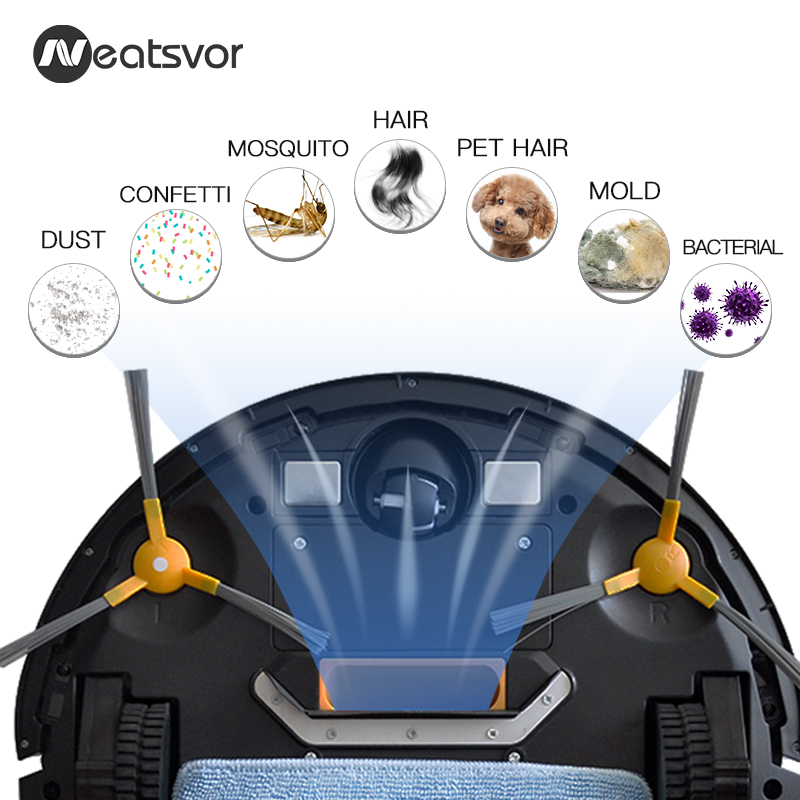 Image 4 - NEATSVOR V392 Robot Vacuum Cleaner,Map navigation,1800Pa Suction,Auto Charge, Map Display, Wifi APP Connect, Electric Water tankVacuum Cleaners   -