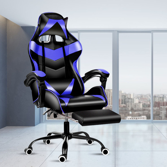 Leather Office Gaming Chair Home Internet Cafe Racing Chair WCG Gaming Ergonomic Computer Chair Swivel Lifting Lying Gamer Chair 1