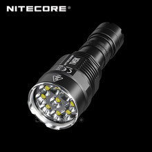 9500 Lumens NITECORE TM9K 9 x CREE XP-L HD V6 led Ultra Compact lampe de poche tactique intégré 21700 Li-ion 5000mAh batterie(China)
