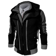 ZOGAA Winter Jacket Men Casual Double Zipper Fake Two Tops Jackets Warm Cardigan Loose Plus Size Overcoat and Coats