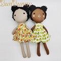 Разнесенные игрушки, коричневая тканевая кукла для девочек, ручная работа, многорасовая разнообразная кукла, одета африканская девочка, тр...