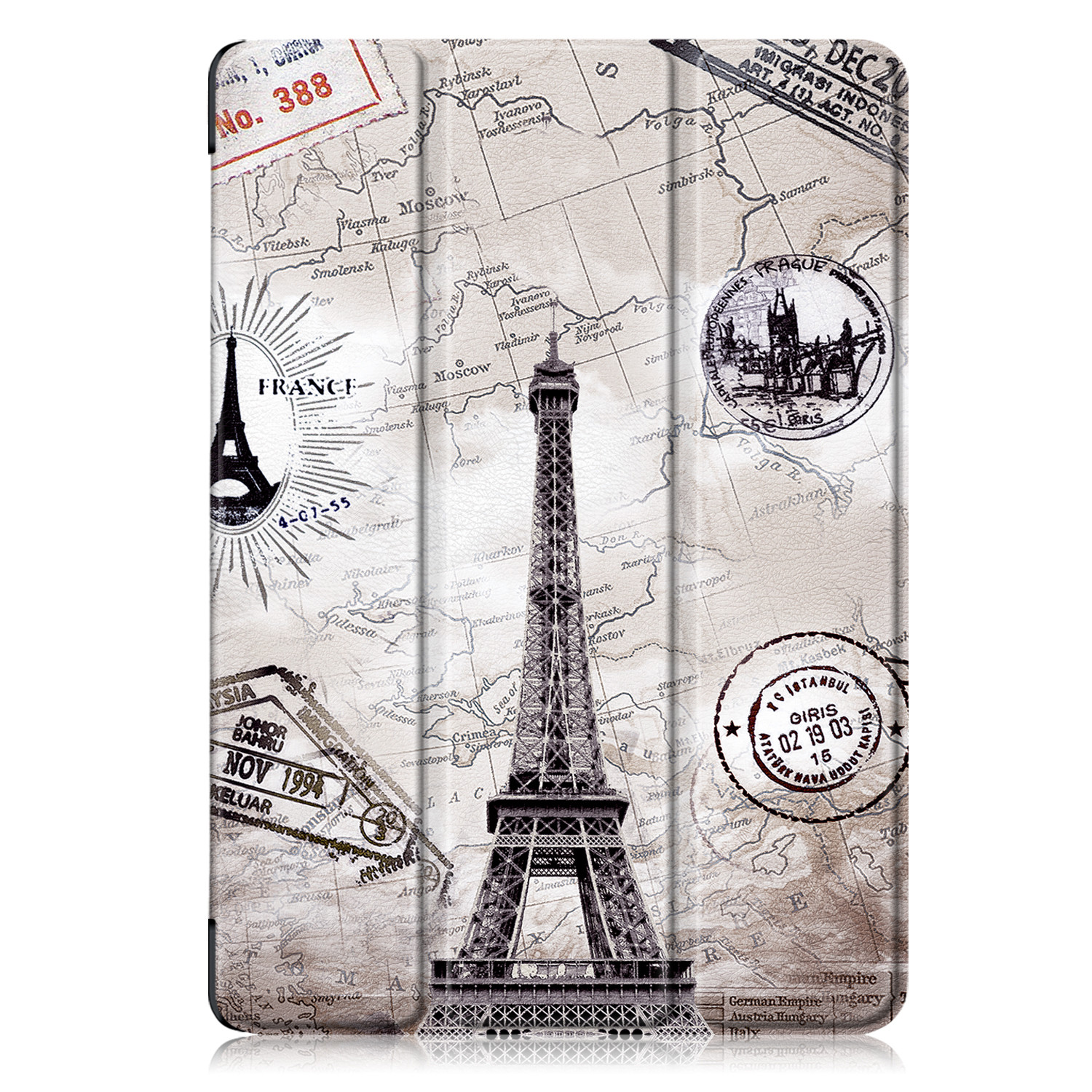Eiffel Tower Green Tablet Case Funda For IPad 10 2 Inch 2020 with Pencil Holder Magnetic Folding Stand Smart