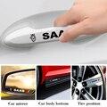 4 предмета в комплекте, Модная креативная двери автомобиля наклейки на ручку дизайн виниловые наклейки на стены для SAAB 9-3 9-5 93 9000 900 9-7 600 99 9-X ...