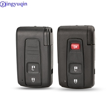 jingyuqin 10ps 2 Buttons Remote Smart Car Key Case Cover  For Toyota Prius Corolla Verso Toy43 Uncut Blade With Blade