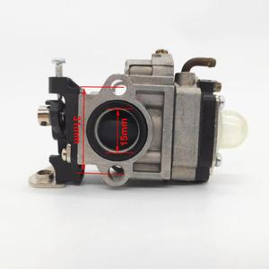 15mm carburador apto para cortador de escova motosserra cg330 cg430 cg260 cg520 1e34f 1e36f motor 26cc 33cc grama trimmer erva daninha comedor