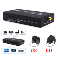 Multi Function 4Kx2K 3D 1080P 4x1 HDMI Switcher With ARC Audio Extractor 1080p30Hz Switcher Converter Adapter For TV Projector