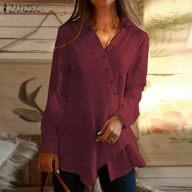 Long Sleeve Asymmetrical Blouse 5