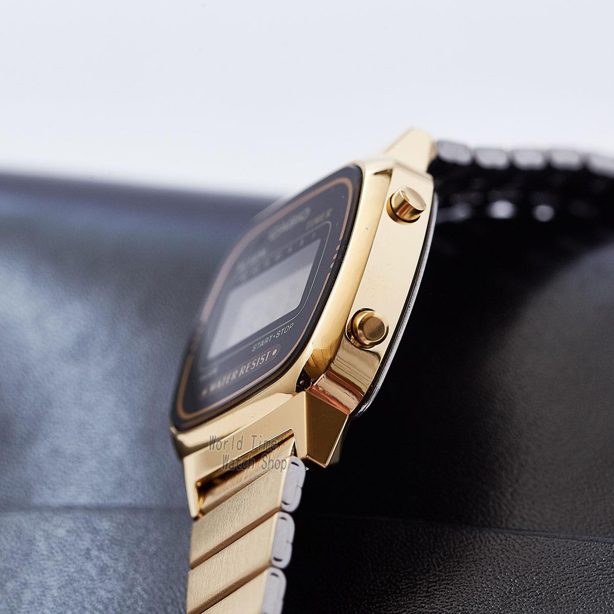 Casio часы золотые женские часы лучший бренд класса люкс водонепроницаемые кварцевые часы женские светодиодные цифровые спортивные женские ... - 2