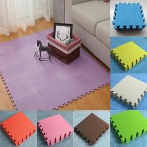 Newest Children's Foam Carpet Mosaic floor 30cm x 30cm Puzzle Carpet Baby Play Mat Floor Developing Crawling Rugs Puzzle Mat(China)
