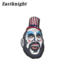 K641 Wholesale 20pcs/lot Halloween Jewelry Clown Pins Metal Enamel Pin and Brooches Backpack/Bags Badge Brooch Collar Jewelry