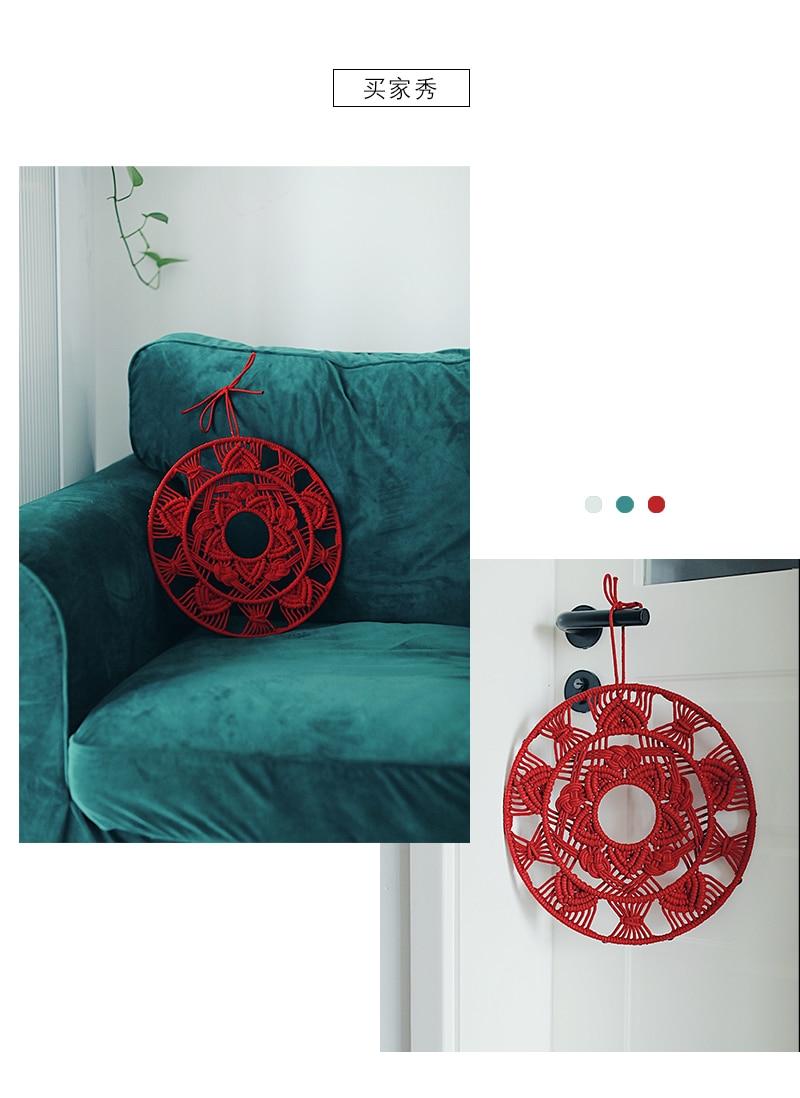 Tapeçaria psicodélica macrame redonda tapeçaria tapeçaria cabeceira