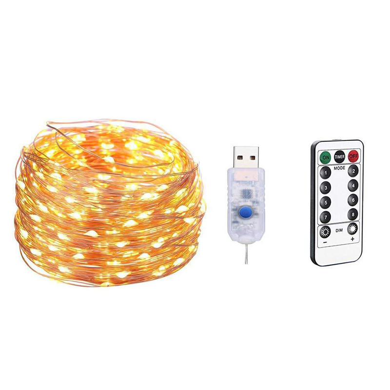 USB Decor Firefly Bunch Lights 8 Modes Twinkle Lights with Remote Control US