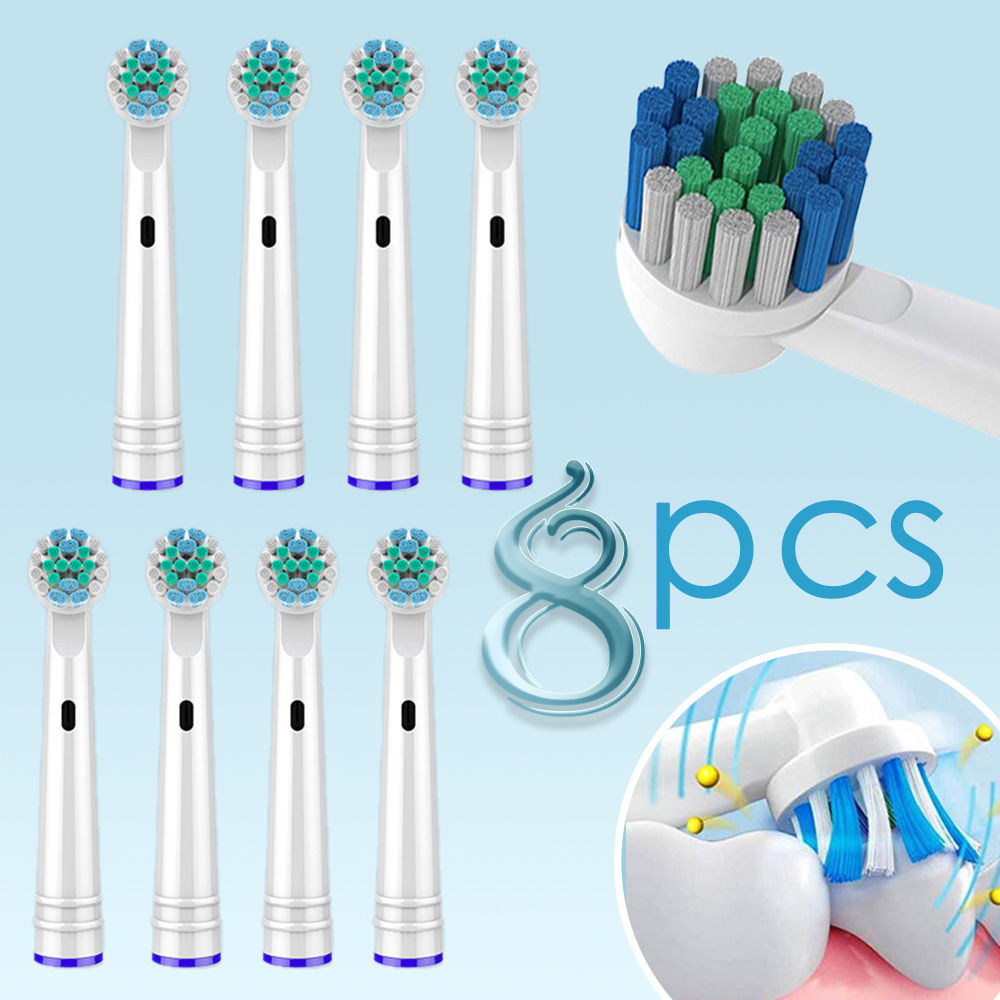 8 pcs Replacement Toothbrush heads for Oral-b toothbrush heads Compatible oral-b Vitality Electric Toothbrush DB4010 Heads 5