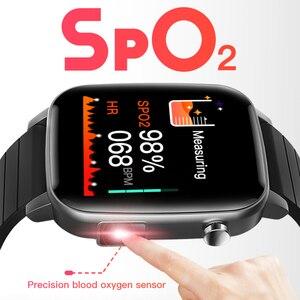 Image 2 - SP1 Sport Smartwatch Mannen Vrouwen Met Body Temperatuur Meet Hartslag Echte Medische SPO2 Bloed Zuurstof Smart Horloge Vs W26 w46
