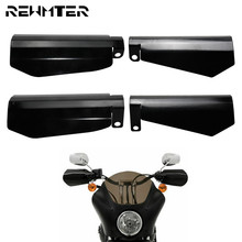 Motorcycle Stainless Steel Glossy Black Shade Hand Guard 2PCS Handguards For Harley Sportster XL Dyna Baggers Falling Protection