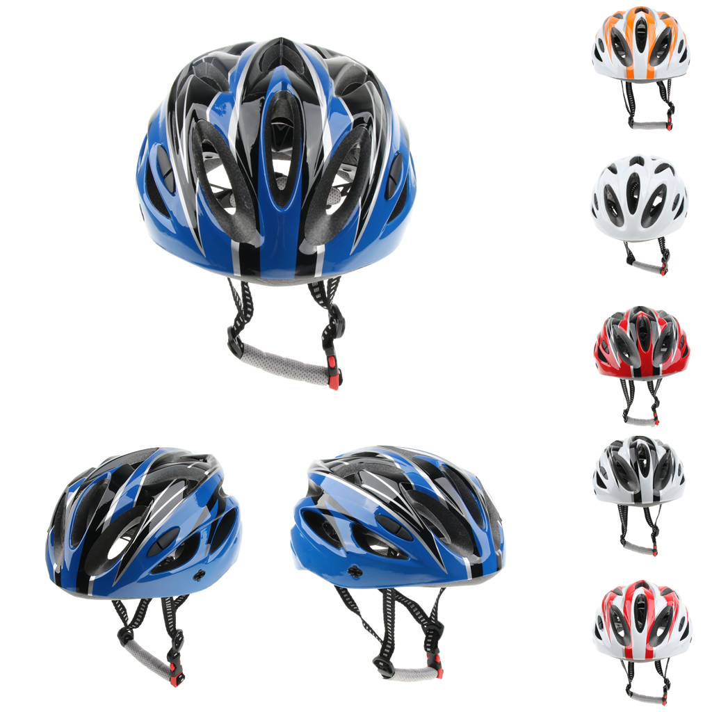 Road Bicycling Safety Helmet Roller Skating Head Protection Hat Outdoor Sports Adjustable 52-62cm