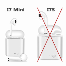 Pop Up 2019 i7 I7s Mini TWS Wireless Bluetooth Earphone Small In-Ear Stereo Earbud Headset With Charging Box Mic For Smart Phone i7 mini double bluetooth earphone headphones stereo tws wireless headset phone charger in ear air pods earbud for apple iphone