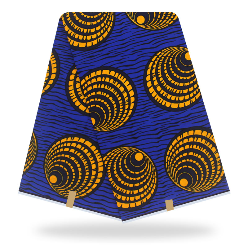 African Tissus Real Dutch Wax 6yard Pagne Wax Tissus African Ankara Fabrics Real Wax 100% Cotton Sewing Material