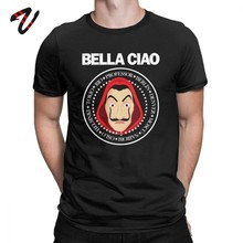 La Casa De Papel T-Shirts hommes Hip Hop 100% coton T-Shirts cadeau De noël à manches courtes t-shirt maison De papier argent casse vêtements