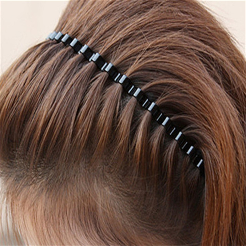 Hot Sale Wave Shape Hair Clip Women And Handsome Men Beauty Modeling Tool Black Simple Wavy Hair Clip Beauty Hair Accessories