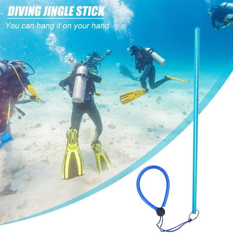 Scuba Diving Aluminium Alloy Lobster Stick Pointer Rod With Rubber Lanyard Strap Underwater Colorful Submersible Pointer Rod