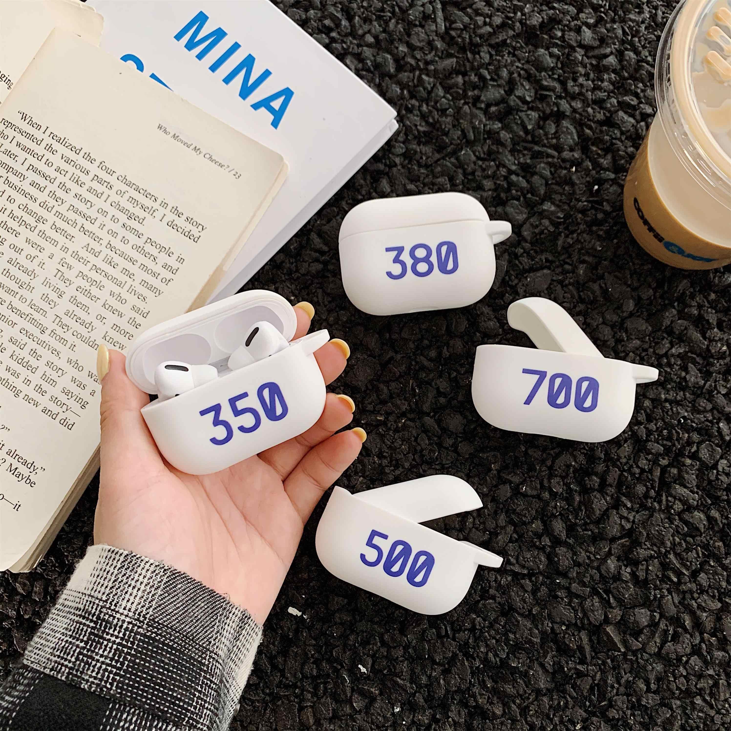 موضة 350 boost 700 طباعة أحذية نموذج غطاء من السيليكون ل أبل Airpods 1 2 سماعة لاسلكية تعمل بالبلوتوث سماعة واقية غطاء سماعة