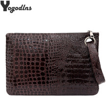Pochette Femme Fashion Clutch Bag Female Small Handbag Crocodile Grain Women's Clutch Bag PU Leather Women Envelope Evening Bag(China)