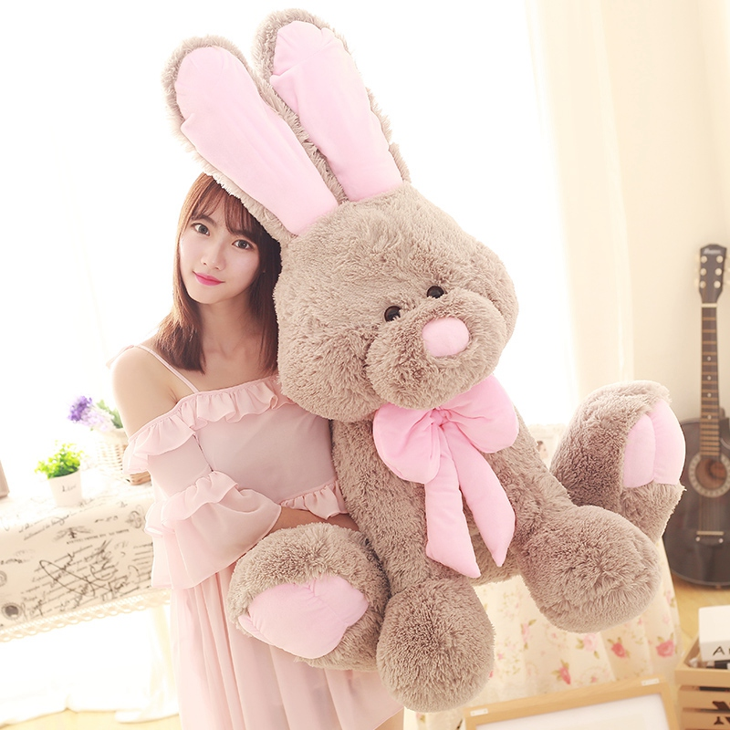1pc 50/70/80/90cm Cute American Rabbit Plush Toy Doll Large Bunny Toys Rabbit  Quality Peluche Children Kid's Gift